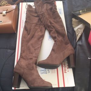 Charlotte Russe over the knee boots size 9 NWT